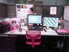 Pink cubicle