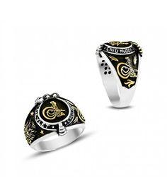 Gümüş Kartal Pençeli Tuğra Erkek Yüzüğü EY720
