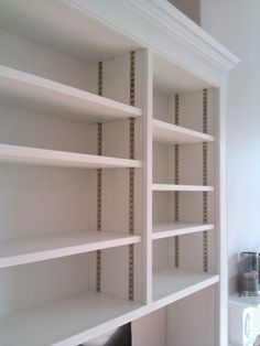 Brass Adjustable Shelving System Pantry Shelving, Shelving Systems, Pantry  Ideas, Adjustable Shelving,