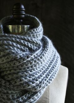 Crocheted Rib Cowl | The Purl Bee