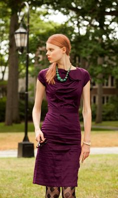 Off Campus by Shabby Apple, rich color, love the folds, beads would be nice too