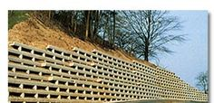 Evergreen Retaining Wall System - retaining wall, precast concrete, slope stabilizer, sound barrier, earth embankments, rock embankments, slope retention, Buffalo, WNY, Western New York, New York State