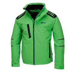 Kilpi, Erim stretch ski jacket, men, green Ski jacket with Recco system and soft…