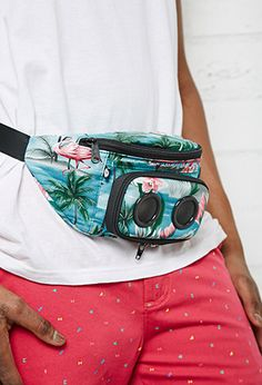 Speakers on the front of this fanny pack means, wherever you are, there's the dance floor.