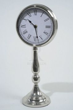 Iron Clock On Stand @ rosefields.co.uk