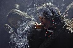 Tibetan Tea Drinker by Photographer Thomas L. Kelly - Native Graces 1 on photokunst Nepal, Namaste, Amazing Photography, Travel Photography, Tea Riffic, Photography Exhibition, Tribal People, Tibetan Buddhism, People Of The World