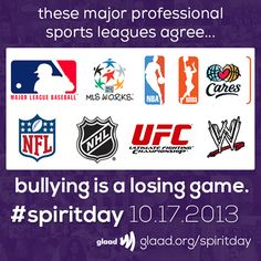 The major leagues are going purple to stand against bullying and to support LGBT youth for #SpiritDay 10/17! Join them and change your profile pics now: http://glaad.org/spiritday