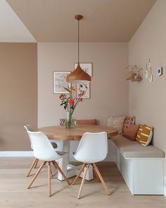 Home Room Design, Dining Room Design, Home Interior Design, House Design, Home Living Room, Living Room Decor, Minimalist Dining Room, Dining Nook, Dining Room Inspiration