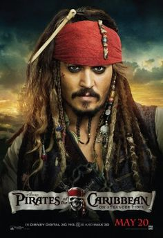 A great poster of Johnny Depp as Captain Jack Sparrow! From the hit movie Pirates of the Caribbean: On Stranger Tides. Need Poster Mounts. Captain Jack Sparrow, Film Pirates, I Movie, Movie Stars, On Stranger Tides, Here's Johnny, Johnny Depp Movies, Kino Film, Pirate Life