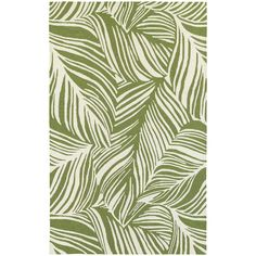 Tommy Bahama Home Atrium Tropical Leaf Green/Ivory Indoor/Outdoor Area Rug & Reviews | Wayfair