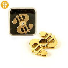 DS24 Premium Spinner Dollar II in Gold - Hand Spinner Metall - Profi Spinner - High Quality DE frei Haus - Fidget spinner (*Partner-Link)