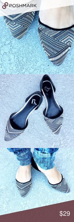 Report Flats Very stylish fabric woven upper flats. Like new condition. Super comfy true to size. Report Shoes Flats & Loafers
