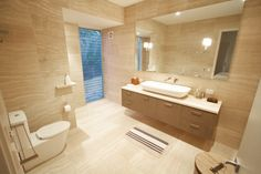 travertine tile bathroom designs - Google Search