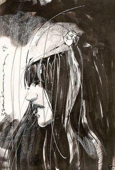 Elektra sketch by Bill Sienkiewicz