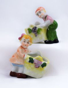 Made in Occupied Japan Little Girl and Boy by AuntDarlenesAttic