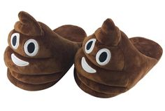 Poop emoji slippers More