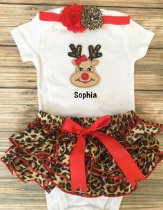 dba27b3bfdf First Christmas  Santa s Diva  Christmas ruffle by BabyTrendzz