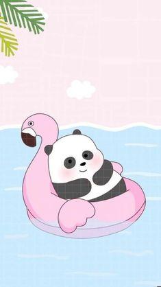 cute wallpaper💕💕 panda🐼 cute loveee❤ cute bear we bare bears Cute Panda Wallpaper, Bear Wallpaper, Cute Disney Wallpaper, Kawaii Wallpaper, Cute Wallpaper Backgrounds, Wallpaper Iphone Cute, Flamingo Wallpaper, Laptop Wallpaper, Mobile Wallpaper
