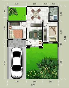 Standard Room Sizes For Plan Development - Engineering Discoveries Mini House Plans, Modern House Floor Plans, Model House Plan, Vintage House Plans, Small House Plans, Tiny House Layout, House Layouts, House Front Design, Small House Design