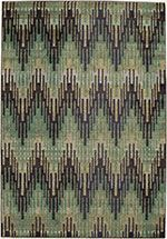 Momeni Green Casa rug - Contemporary Rectangle x