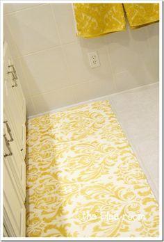 stenciled memory foam rug