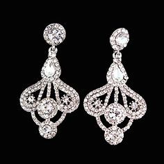 GoodShoop Luxury New SWA Element Crystal Long Water Drop Dangle Chandelier Earrings Bridal Wedding Jewelry Accessories ** Click on the image for additional details.