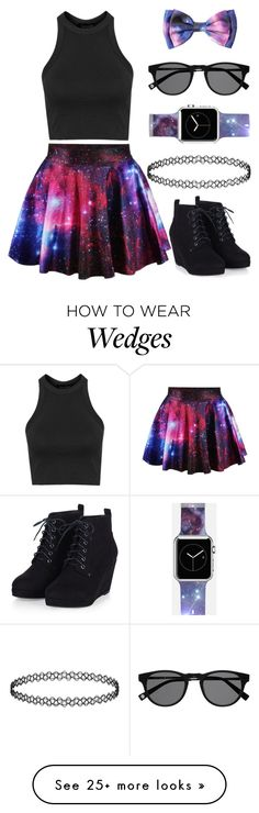 """""""Galaxy Girl"""" by thisisaudy on Polyvore featuring Topshop and Casetify"""