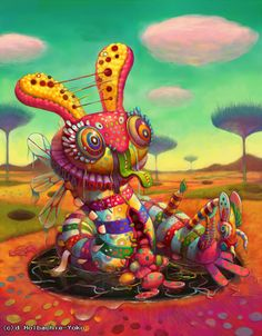 """Happy World"" by Yoko D'holbachie."