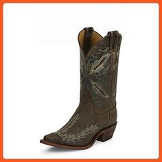 Justin Ladies Bent Rail J3 Toe 11in Boots 7.5 Cho - Boots for women (*Amazon Partner-Link)