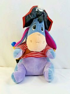 "Cute stuffed Eeyore in a Pirates. It measures 13""H when sitting straight. Up for your consideration is this. 