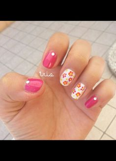 ○Magenta summer nails○