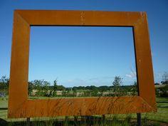 Large steel frame sculpture by Paperbark Garden Design