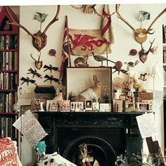 "768 Likes, 7 Comments - Nikki Renshaw (@englisheccentrichome) on Instagram: ""Textile designer Mark Hearld's home"""