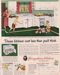 Youngstown steel cabinets... from  ADSAUSAGE - vintage advertising.
