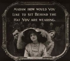 Bright Young Twins | oldhollywood: 1910's-era movie theater etiquette...