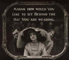 1910's-era movie theater etiquette Public Service Announcements