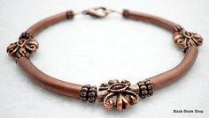 Copper Pipe Bracelet 7.5 by BlackBrookShop on Etsy, $16.00