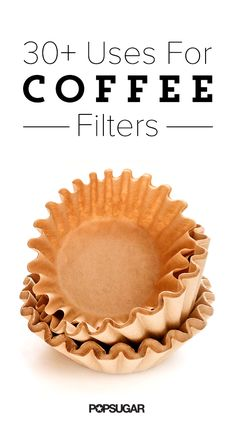 The latest tips and news on Upcycling are on POPSUGAR Home. On POPSUGAR Home you will find everything you need on home décor, garden and Upcycling. Coffee Filter Uses, Coffee Filter Crafts, Coffee Uses, Coffee Filters, Coffee Coffee, Coffee Shops, Coffee Beans, Coffee Maker, Homemade Dryer Sheets