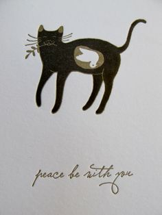 cat_dove - xmas card