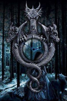 Dragon by sonia Magical Creatures, Fantasy Creatures, 3 Headed Dragon, Dragons, Dragon Dreaming, Beautiful Dragon, Dragon's Lair, Dragon Artwork, Dragon Pictures