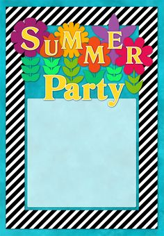 pool party invitation free template