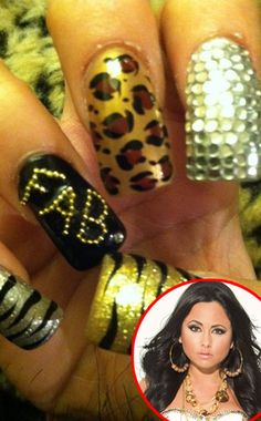 Olivia Blois Sharpe's nails :) she always has the best nails on Jerseylicious. :)