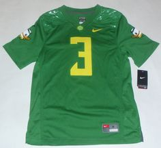 3 Oregon Ducks Nike Apple Green Replica Game Football Jersey 650cef1525407