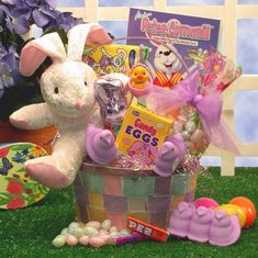 Send your love with the Bunny Love Easter gift basket. Perfect for both boys and girls, this pretty pastel basket carries sweets and treats that will convey your love in great taste! Fun activities are included. Plush Easter Bunny Marshmallow B Easter Gifts For Kids, Easter Crafts, Happy Easter, Easter Decor, Bunny Love, Easter Egg Candy, Easter Eggs, Easter Dishes, Fashion Bubbles