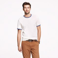 Wallace & Barnes 16/20s solid ringer tee