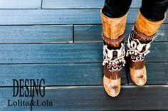 #cubrebotas #boho chic #complementos #moda  #Boot cuffs #fashion #accessories #lolita&Lola: Final de temporada Otoño Invierno  Final Fall Wint...