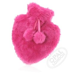 A fabulously #fluffy, #heart shaped cuddly hot water bottle for keeping warm on cold nights.  The faux fur pouch with its exotic pom poms makes a great nightie / PJ case in the summer months too...!  The ideal gift for Valentines.   Perfect to express your feelings to that special someone. #heartwarmer #hearthottie #pinkheart #valentinesgifts #noveltyvalentine #valentine #hotwaterbottle #pink #loveheart