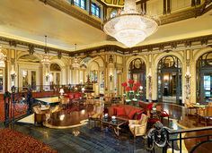 The St. Regis Rome—Lobby Perfect place for a nightcap to end the day