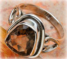 Smokey Quartz Gemstone Sterling silver 925 by LightstonesCrystals, $32.99