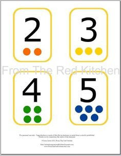 Number Alphabet Shapes and Colors Flashcards door FromTheRedKitchen